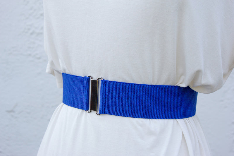 Women's 2 inch royal blue belt by Cinched Apparel