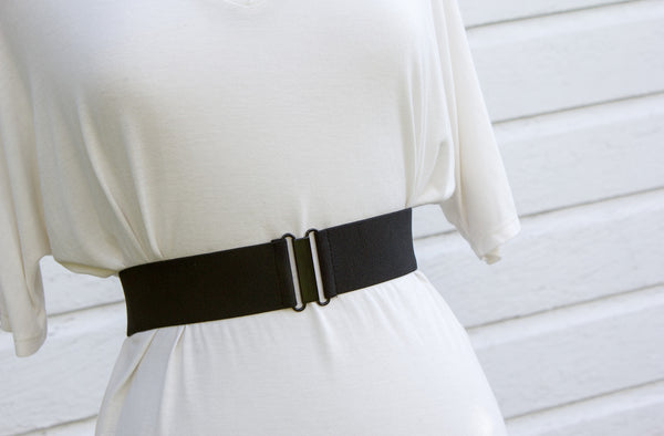 Women's 2 inch black belt by Cinched Apparel