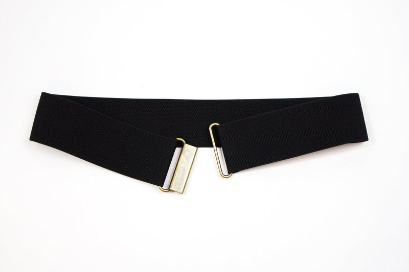 "Women's 2"" black waist belt by Cinched Belts"