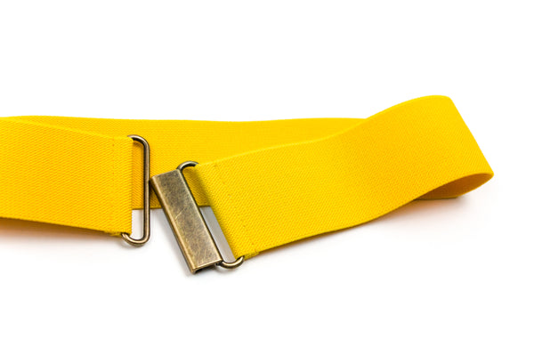 "Women's 2"" yellow belt by Cinched Belts"