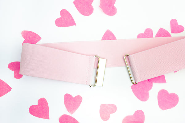 "2"" light pink belt"