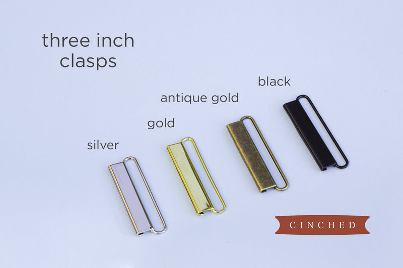 "3"" belt clasp options by Cinched Belts"