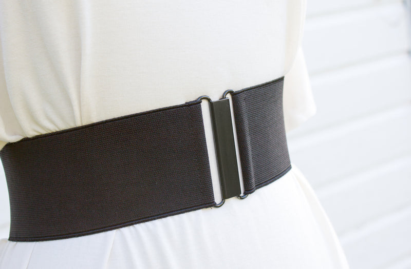 Women's 3 inch black belt by Cinched Apparel