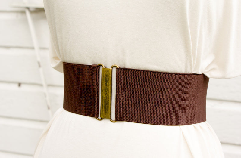Women's 3 inch brown belt by Cinched Apparel