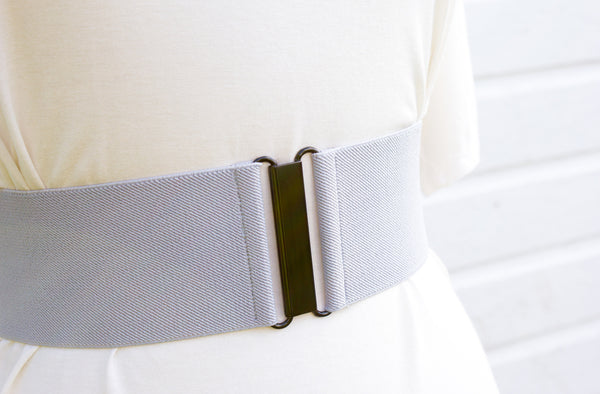Women's 2 inch grey belt by Cinched Apparel