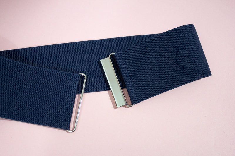 Women's 3 inch navy blue belt by Cinched Apparel
