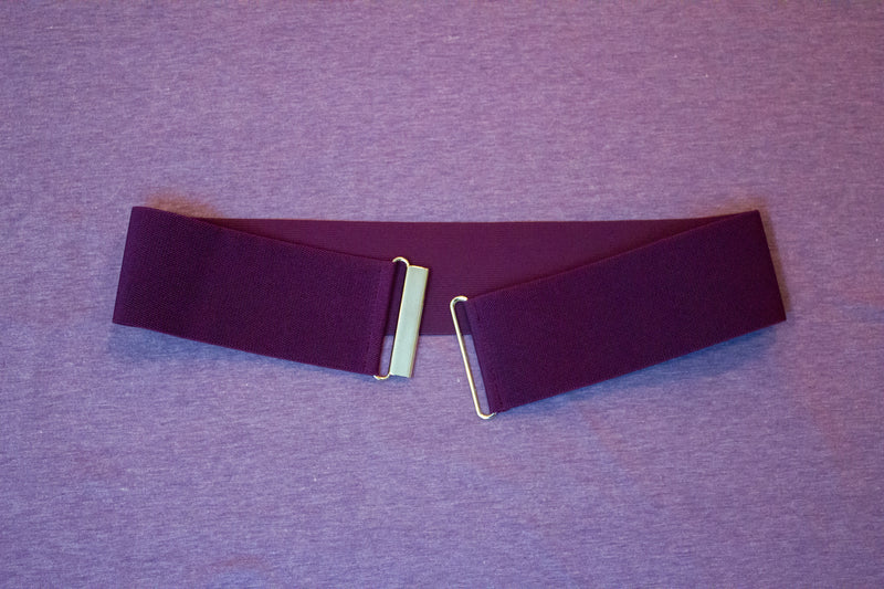 "3"" eggplant purple belt"