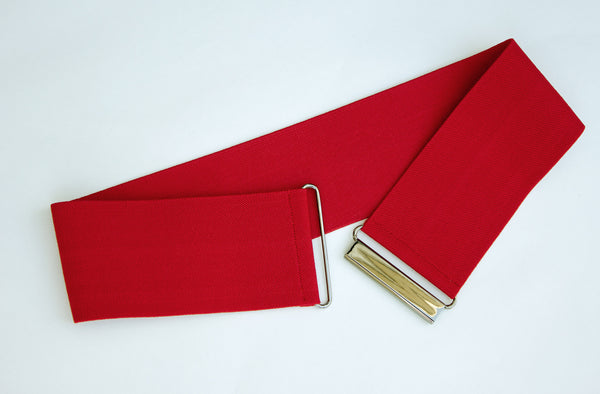 Women's 3 inch red belt by Cinched Apparel