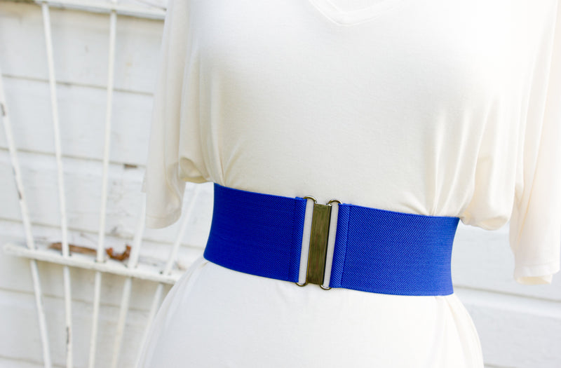 Women's 3 inch royal blue belt by Cinched Apparel