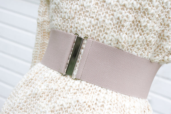 Women's 3 inch taupe belt by Cinched Apparel
