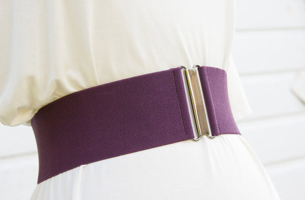 Women's 3 inch purple belt by Cinched Apparel