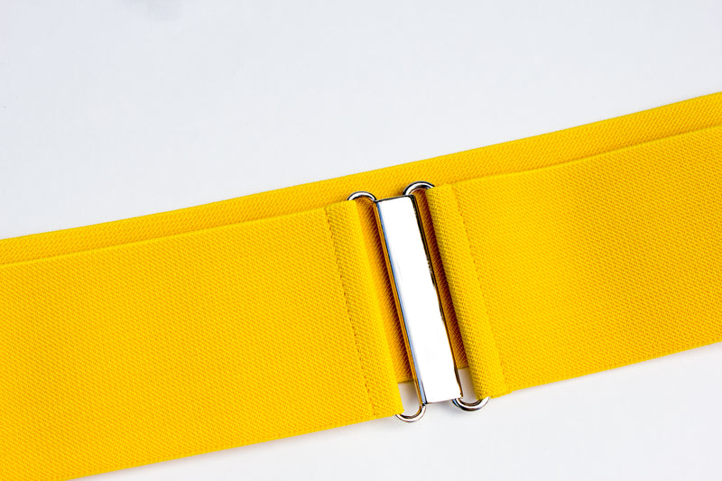 "Women's 3"" yellow belt by Cinched Belts"