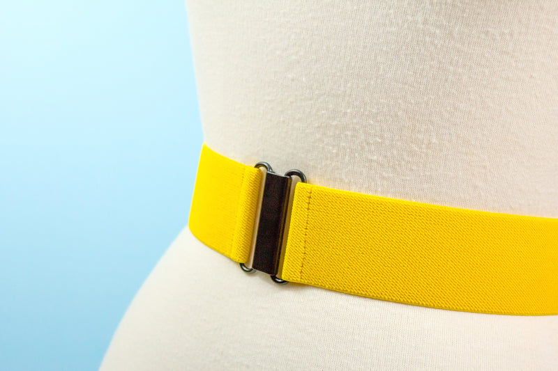 "2"" yellow elastic belt"