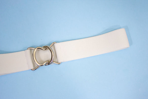 White belt with silver clasp