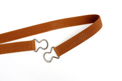 Women's 1 inch cinnamon brown belt by Cinched Apparel