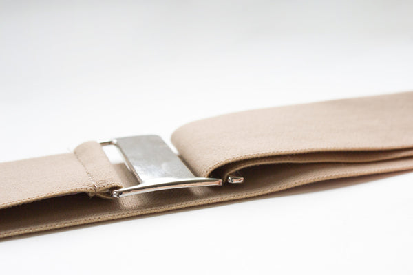 Taupe no bump, low profile invisible belt by Cinched Apparel