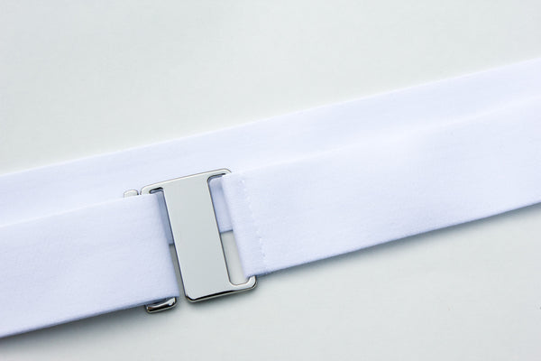 White low profile no bump invisible belt by Cinched Belts