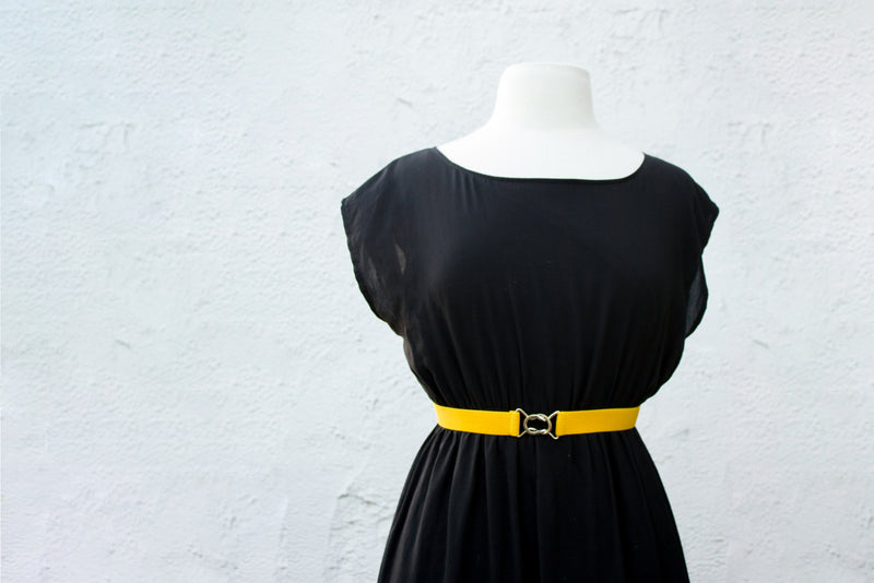 Women's 3 inch yellow belt by Cinched Apparel