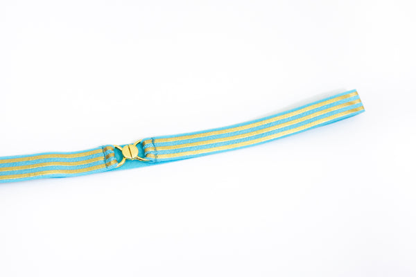 ".5"" blue and gold striped belt"