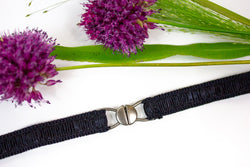 ".5"" black ruched belt"