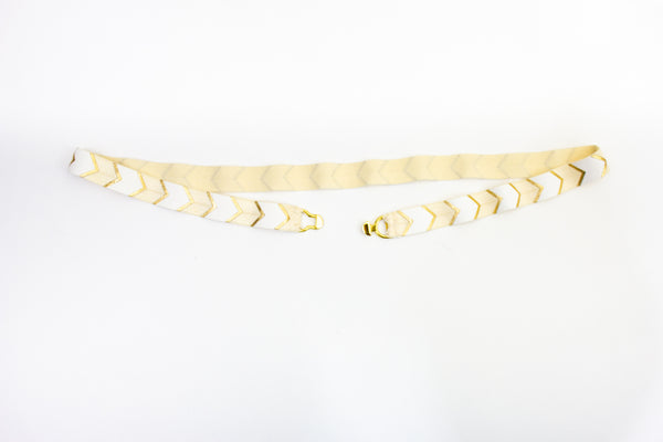 ".5"" yellow and white chevron belt"