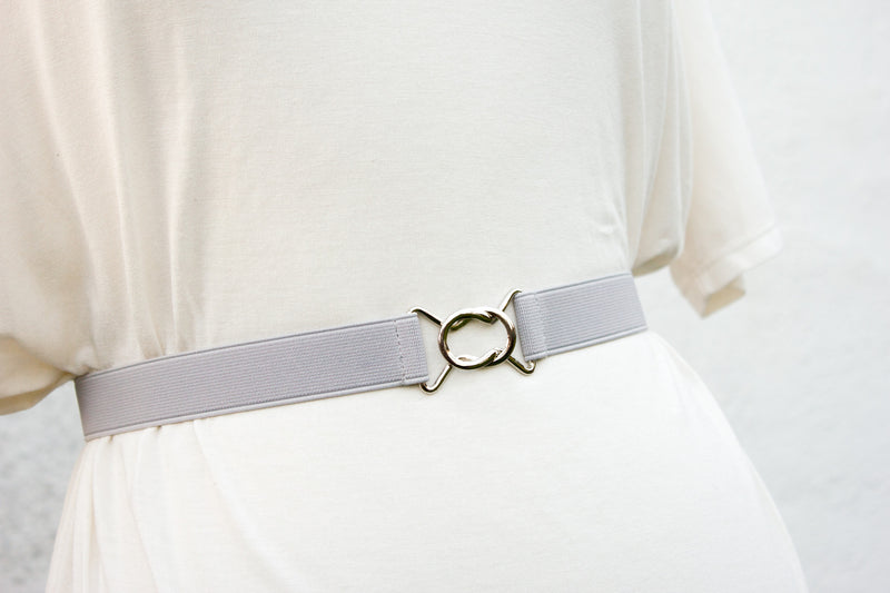 Women's 1 inch grey belt by Cinched Apparel