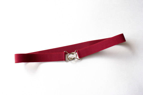 Women's 1 inch dark red belt by Cinched Apparel