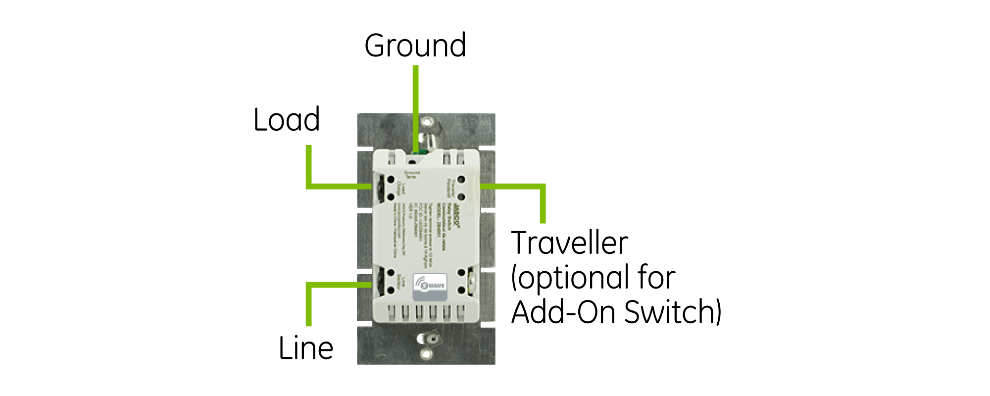 GE Z-Wave Dimmer switch without neutral wire