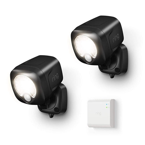 2 Black Ring Spotlight Kits with Bridge
