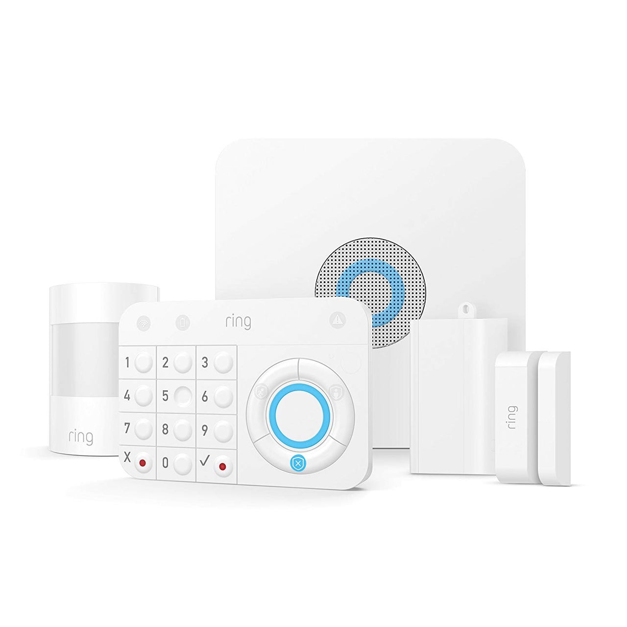 Ring Alarm 5 Piece Kit - Home Security System with optional 24/7 Monitoring - Alexa Compatible