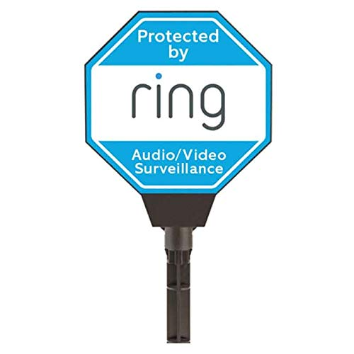 Ring Solar Security Yard Sign Blue - Stick Up