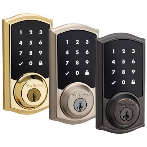 Kwikset SmartCode 916 Z-Wave Touchscreen Deadbolt Lock with Home Connect