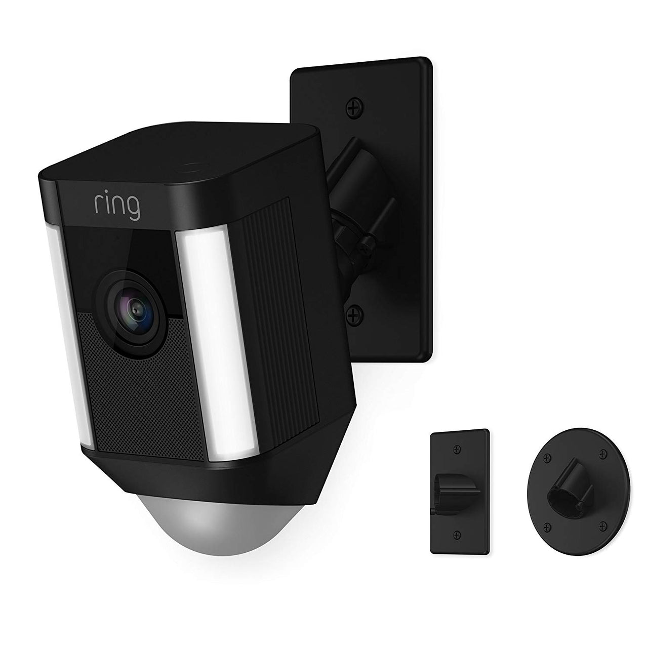 Ring Spotlight Cam Mount HD Security Camera - Black