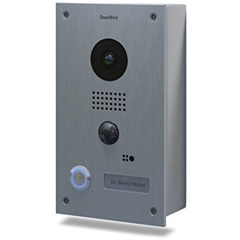 DoorBird WiFi Video Doorbell D201 Stainless Steel Surface Mount