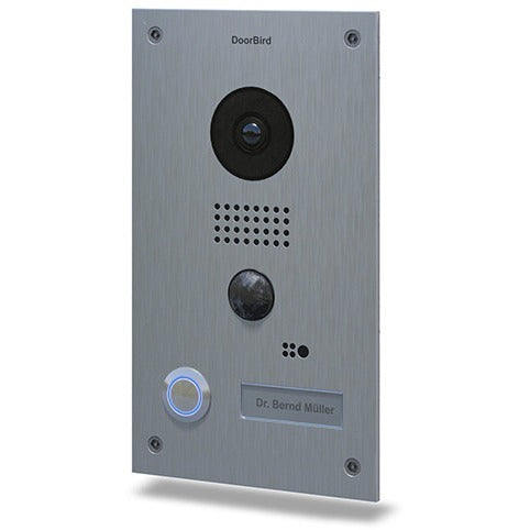 DoorBird D202 WiFi Video Doorbell Stainless Steel Flush Mount