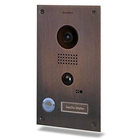 DoorBird WiFi Video Doorbell D202B Stainless Steel with Bronze Finish Flush Mount