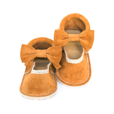 Bow Mary Janes - Moab Suede