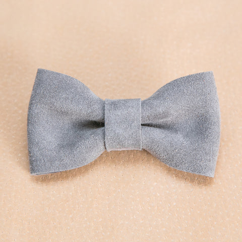 Bow Tie Collection - Storm Cloud Suede