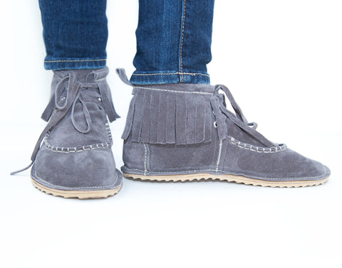 Grand Dukes for Women - Slate Gray Suede