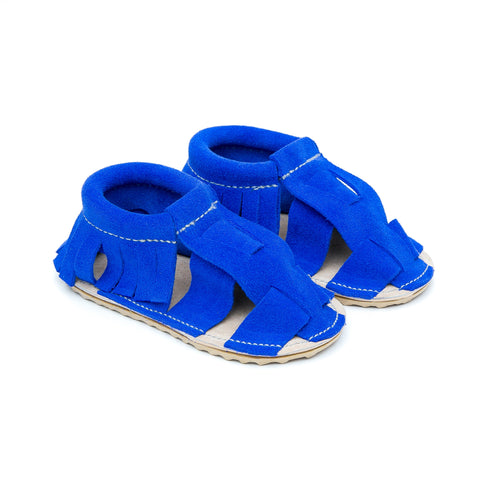 Sandal Moccasins - Egyptian Blue Suede