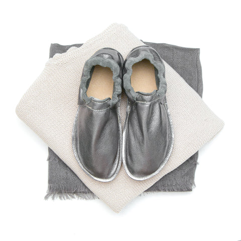 Adult Moccasin - Classic (Fringeless) - Pewter