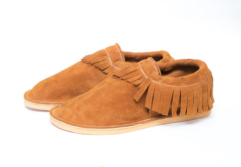 Adult Moccasin - Classic Fringe - Moab Suede