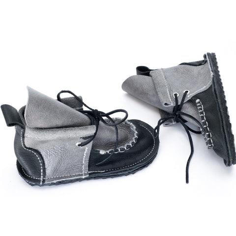 Grand Duke Mocc Boot - Gray Stone & Onyx (Fringeless)