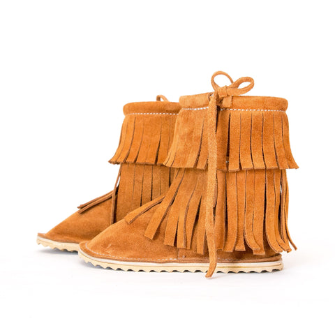 Double Fringe Boot - Moab Suede
