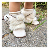 Fur Boot - Café con Crema w/ Rabbit Fur