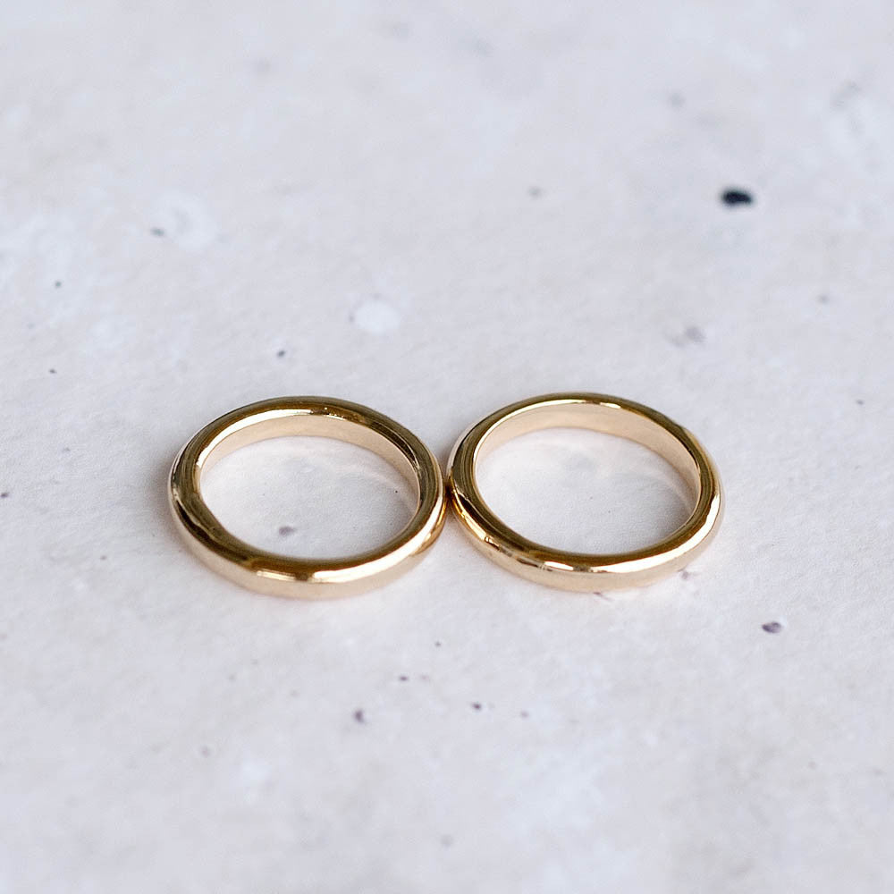 Simple Thick Midi Ring Set