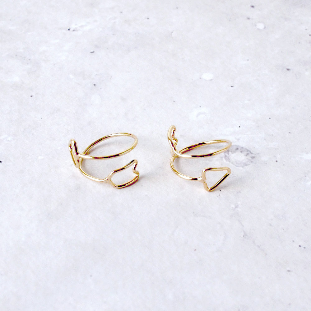 Lined Arrow Ring
