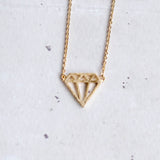 Diamond Shape Cutout Necklace