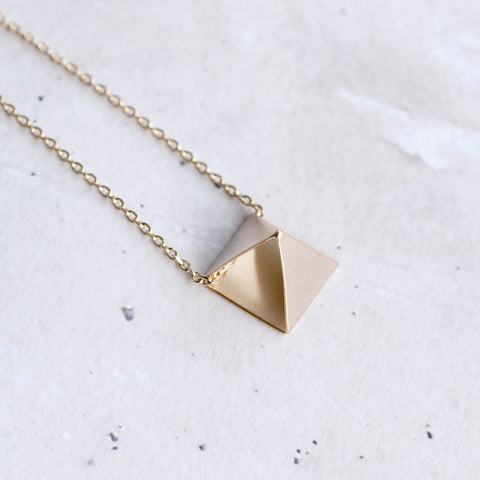 Open Pyramid Necklace