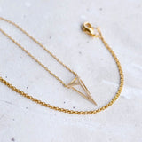 Elongated Triangle Necklace
